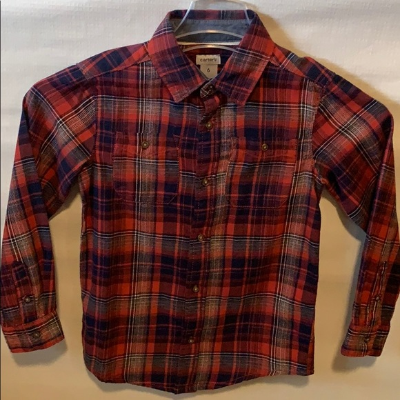 Carter's Other - Carter's boys plaid button down